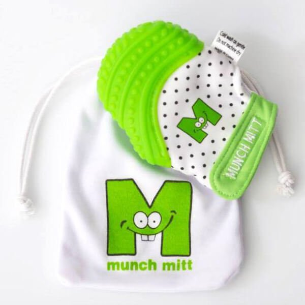 Munch Mitt Baby Teething Mitten | 25 Top Baby Products from the ABC Kids Expo
