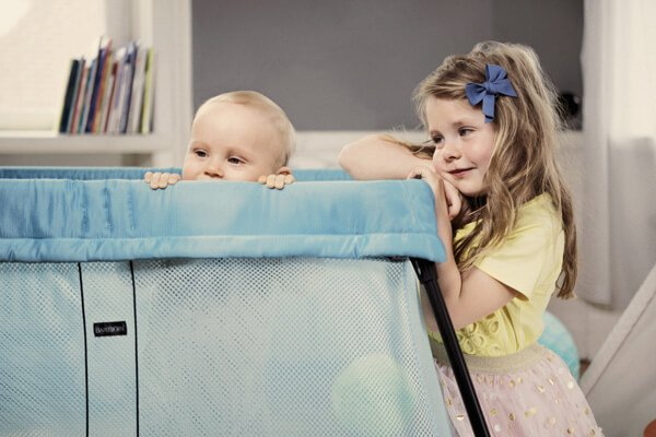 BabyBjorn Travel Light Crib, Turquoise | 25 Top Baby Products from the ABC Kids Expo