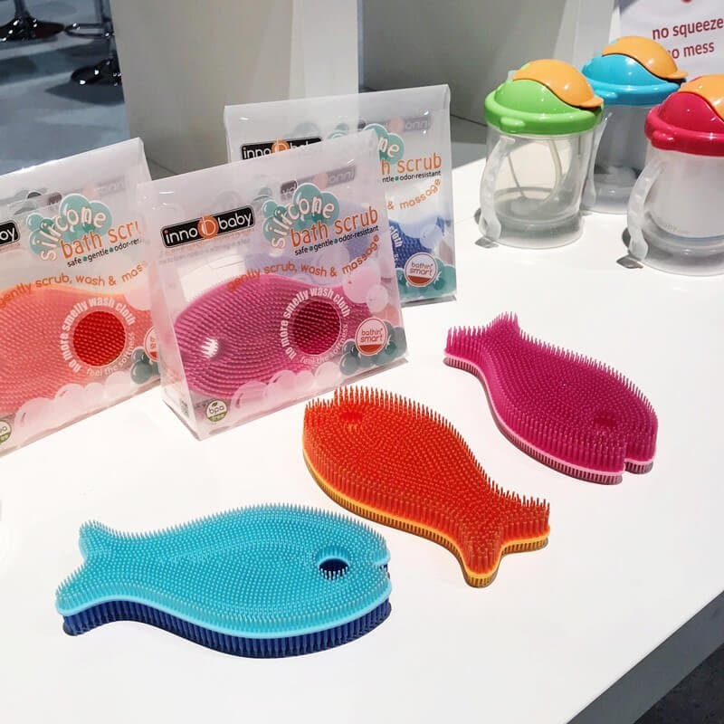 Silicone Fish Bath Scrub | 65 Top Baby Products for 2018 from the ABC Kids Expo